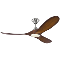 Maverick 52 LED - w Koa Blades Brushed Steel