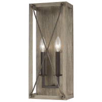 Thornwood Two Light Wall / Bath Sconce Washed Pine Bulbs Inc