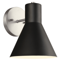 Towner One Light Wall / Bath Sconce Brushed Nickel Bulbs Inc