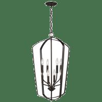 Romee Large Eight Light Hall / Foyer Bronze Bulbs Inc