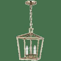 Dianna Three Light Mini Lantern Satin Brass Bulbs Inc