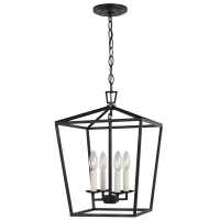 Dianna Four Light Small Lantern Midnight Black