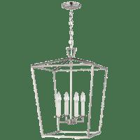 Dianna Four Light Medium Lantern Brushed Nickel