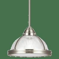 Pratt Street Prismatic One Light Pendant Brushed Nickel Bulbs Inc