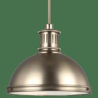 Pratt Street Metal Three Light Pendant Satin Brass