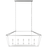 Dianna Five Light Medium Linear Chandelier Brushed Nickel Bulbs Inc
