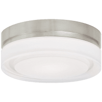 Cirque Small Flush Mount Small Satin Nickel 3000K 90 CRI led 90 cri 3000k 120v
