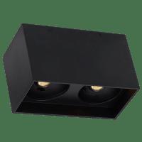"Exo 6 Dual Flush Mount 6.1"" Matte Black Black 2700K LED 90 CRI 120v 277v UNV 30"