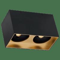 "Exo 6 Dual Flush Mount 6.1"" Matte Black Gold Haze 3500K LED 90 CRI 120v 277v UNV 30"