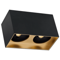 "Exo 6 Dual Flush Mount 6.1"" Matte Black Gold Haze 3500K LED 90 CRI 120v 277v UNV 60"