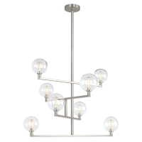 Gambit Chandelier Clear Satin Nickel 2700K 90 CRI t6 led 90 cri 2700k 120v (t20/t24)