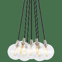 Gambit 7-Light Chandelier 7-LITE Chandelier Clear Satin Nickel no lamp