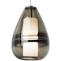 Mini Ella Pendant MonoPoint Smoke Antique Bronze 3000K 90 CRI 12 volt led 90 CRI 3000k (t20/t24)