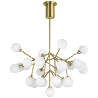 Mara Chandelier White Aged Brass 2700K 90  CRI LED 90 cri 2700k 120v