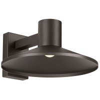Ash 16 Outdoor Wall Bronze Dome 3000K 90 CRI Low Output, Surge Protection
