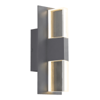 Lyft 12 Outdoor Wall Charcoal Clear 2700K 80 CRI Surge Protection