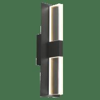 Lyft 18 Outdoor Wall Black Clear 2700K 80 CRI In-Line Fuse