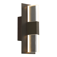 Lyft 12 Outdoor Wall Bronze Clear 3000K 80 CRI Surge Protection