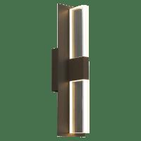 Lyft 18 Outdoor Wall Bronze Clear 3000K 80 CRI In-Line Fuse