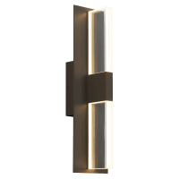 Lyft 18 Outdoor Wall Bronze Clear 3000K 80 CRI In-Line Fuse, Surge Protection
