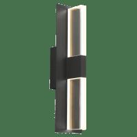 Lyft 18 Outdoor Wall Black Clear 4000K 80 CRI In-Line Fuse