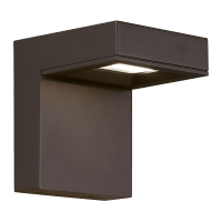 Taag 6 Outdoor Wall Bronze 4000K 80 CRI, Button Photocontrol, In-Line Fuse