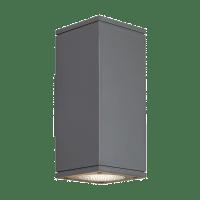 Tegel 12 Outdoor Wall Charcoal 2700K 80 CRI, Button Photocontrol, Uplight & Downlight NNC