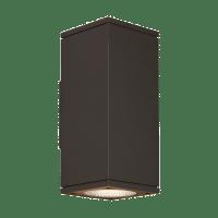Tegel 12 Outdoor Wall Black 3000K 80 CRI, Button Photocontrol, Uplight & Downlight NNC
