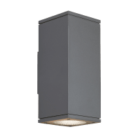 Tegel 12 Outdoor Wall Charcoal 3000K 80 CRI, Surge Protection, Uplight & Downlight NWC