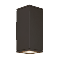 Tegel 12 Outdoor Wall Black 3000K 80 CRI, Button Photocontrol, Surge Protection, Downlight Only WC
