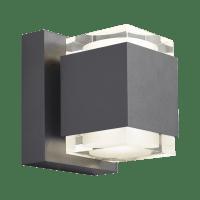 Voto 6 Outdoor Wall Charcoal 2700K 80 CRI Uplight & Downlight
