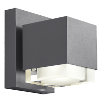 Voto 8 Outdoor Wall Charcoal 3000K 80 CRI Downlight Only Surge Protection