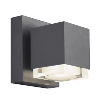 Voto 6 Outdoor Wall Charcoal 4000K 80 CRI Downlight Only Surge Protection