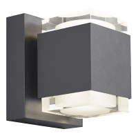 Voto 8 Outdoor Wall Charcoal 4000K 80 CRI Uplight & Downlight Surge Protection