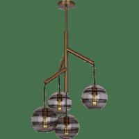 Sedona Single Chandelier Single Transparent Smoke Aged Brass 2700K 90 CRI t14 LED 90 CRI 2700k 120v (T20/T24)