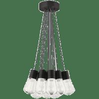 Alva Pendant 11-LITE Chandelier Gray black 3000K 90 CRI led 90 cri 3000k 120v (t24)