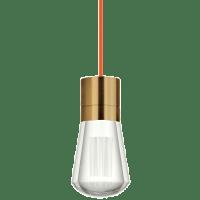 Alva Pendant 1-LITE Orange Aged Brass 2200K 90 CRI led 90 cri 2200k 120v (t24)