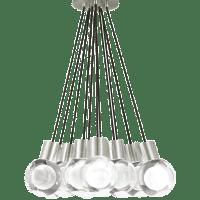 Mina Pendant 11-LITE Chandelier Clear Satin Nickel 3000K 90 CRI LED 120v (t24)
