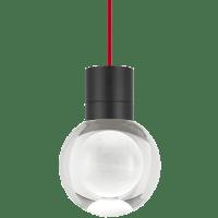 Mina Pendant 1-LITE Clear Black Red 2200K 90 CRI LED 90 CRI 2200k 120v (t24)