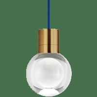 Mina Pendant 1-LITE Clear Aged Brass 3000K-2200K 90 CRI LED 120v (t24)