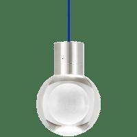 Mina Pendant 1-LITE Clear Satin Nickel Blue 3000K-2200K 90 CRI LED 120v (t24)