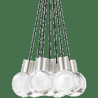 Mina Pendant 7-LITE Chandelier Clear Satin Nickel 3000K-2200K 90 CRI LED 120v (t24)