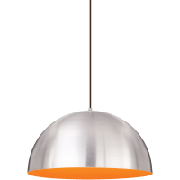 Powell Street Pendant Satin Nickel/Sunrise Orange Black 3000K 80 CRI g40 led 80 cri 3000k 120v