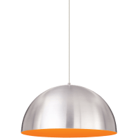 Powell Street Pendant Satin Nickel/Sunrise Orange Satin Nickel No Lamp