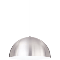 Powell Street Pendant Satin Nickel/White Satin Nickel No Lamp