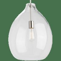 Quinton Pendant Clear Satin Nickel No Lamp