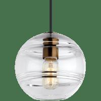 Sedona Medium Pendant Clear Aged Brass no lamp