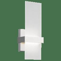 Mura Wall Frost Glass Satin Nickel 3000K 90 CRI led 80 cri 3000v 120v