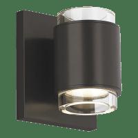 Voto Wall Round Clear Black 3000K 80 CRI LED 80 CRI 3000k 120v