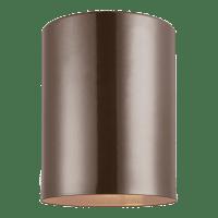 Outdoor Cylinders One Light Outdoor Flush Mount Bronze Bulbs Inc